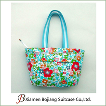 Fashional Full Printing flowers Canvas Tote with Water Pattern Bag
