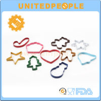 10PCS Multiple Shape Non-stick Colorful Stainless Steel Cookie Cutters