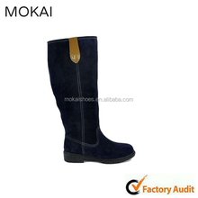 MK008-D1 blue-black genuine leather knee winter boots,buy shoes china 2015