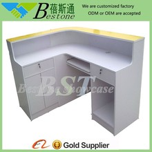 Right-angle cash register desk, cashier table for sale, checkout stand
