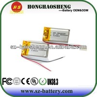 3.7v lithium battery energizer battery cell/ 3.6v 300mah lithium rechargeable polymer battery 582030