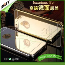 24K gold All in one Luxury Aluminum Acrylic cell phone case with mirror, for iphone 6 mirror case