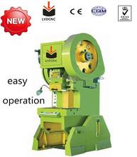 Manual aluminum punching machine, 10 ton power press metal plate hole punching machine