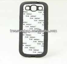Sublimation TPU phone case for samsung I9300 with metal sheet