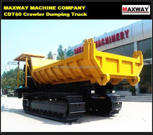 Wood Transport Dumping Truck with Steel or Rubber Crawler , CE / ISO / SGS , Model: CDT60