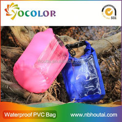 colorful Waterproof Bag with shoulder straps for camping and swimsuit