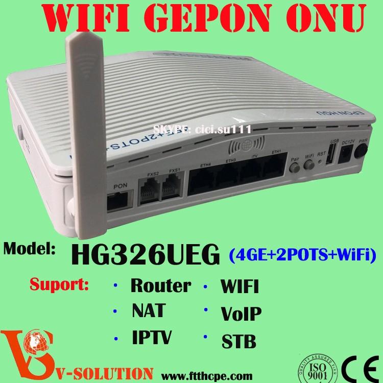 Routeur 300 Mbps Sans Fil GEPON ONU optique unité de réseau Modem WIFI FTTH Solution Réseau