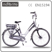 MOTORLIFE EN15194 2015 NEW STYLE 250W 36V 700C electric bicycle moped