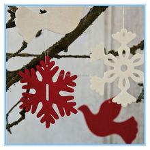 2015 fashion felt decoration cheap christmas decor for export