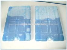 550mlcoche congelador portátil con gel azul insid, de hielo del refrigerador para el paquete de alimentos congelados