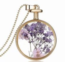 purple Flower Colorful Rhinestone Shining Vintage Collares de piedra Stone de calidad y con buen precio Ultimo moda 2015 vidrio