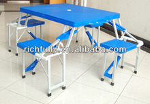 Best Price Outdoor ABS Plastic Folding Table and Chairs in 4 direction