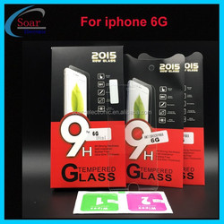 Newest product tempered glass screen protector guard for iphone 6G