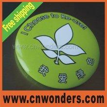 Environmental protection tinplate badge