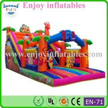 2015 Enjoy inflatable elephant jump slide, inflatable characters slide, inflatable playground slide