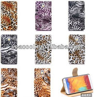 Leopard PU leather cover case For Samsung Galaxy Note 3 III N9000
