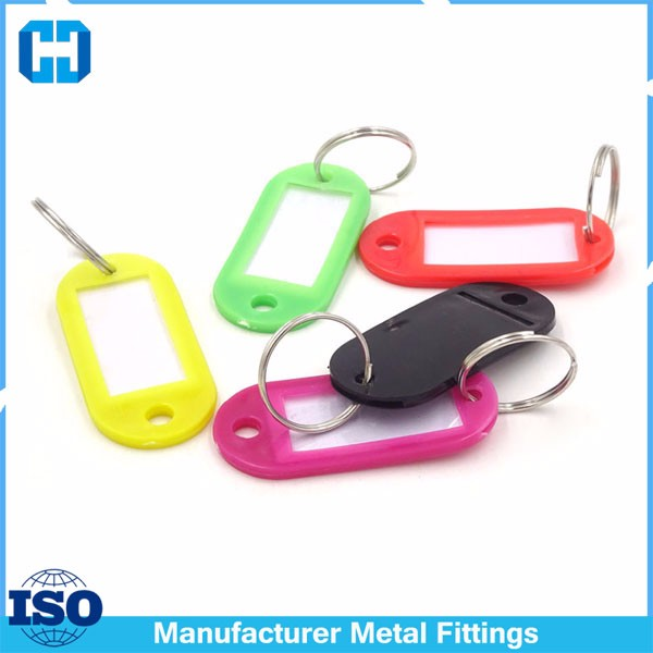 colored key ring tag