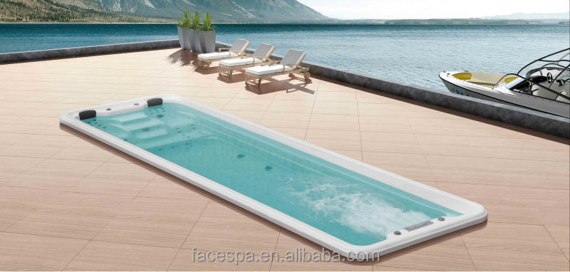 Prefabricated pools above ground swim spa fs s12 for for Premade pools