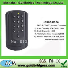 High Quality Metal Access Control.Standalone door control.Wiegand output.RFID and PIN Verification.Large User Capacity