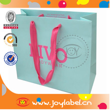 paper bag rope handle&paper shopping bag with rope handle
