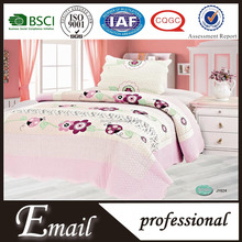 Cheap 100%cotton pink floral pattern flat bed sheets