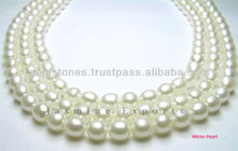 Fresh Water Pear Beads, White Pearl Round Beads