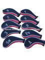 De punto de marca zip hierro del golf cabeza cubierta