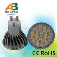 high quality warm white brightness 4w 5050 smd 12v gu10 led
