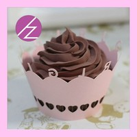 DG-104 baby shower decor pink cupcake wrappers for party decoration