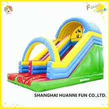 Outdoor central park sports commercial kids PVC inflatable water slide withsafe roof price