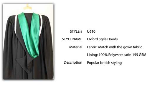 Oxford Style Hood