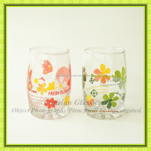 Factory hot sale Machine made water drinking glass,glass tumbler,juice glass with custom logo printing.
