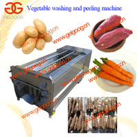 High Capacity Carrot/Potato/Fruit Cleaning and Peeling Machine