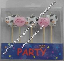 animale vignetta carina felice compleanno arte candela di compleanno