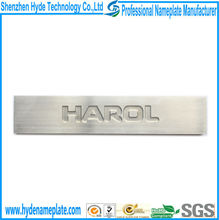 professional customize etching 0.5mm depth letters logo 304 stainless steel plate sticker