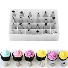 24pcs/set Soap Mold Moulds Metal Icing Piping Nozzles Pastry Tool Tips Cake Decorating Sugarcraft Tools Set