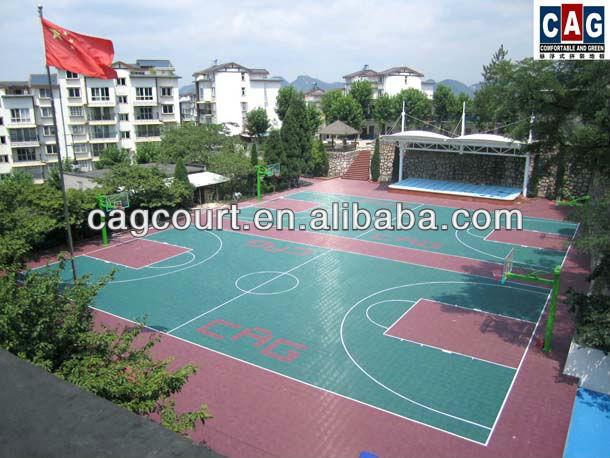 具体的に設計された取り外し可能なcagゴールドシリーズ・多目的屋外バスケットボールの床