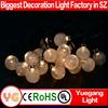 Christmas solar outdoor string light 4.8m 20leds warm white led solar garden light crysrtal ball solar powered globe fairy light