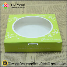 Hot sale clear food paper packaging boxes with window
