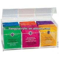 famous brand clear square high quality acrylic tea bag organizer factory