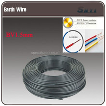 Copper Conductor Material and PVC Jacket cooper conductor electric cable 1.5MM