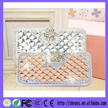 OEM 100% Handmade Attractive Crystal Flip Leather Mobile Phone Cover For Iphone6 Plus Case