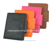 New design leather notebook cover with card pocket