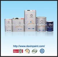 Weathering resistant 2k car paint solid colors