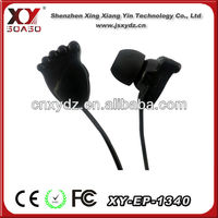Wired small size foot shaped earphone radio