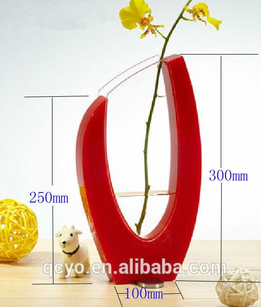 Factory Supply Acrylic Decoration Wedding Vases Plastic Vases For