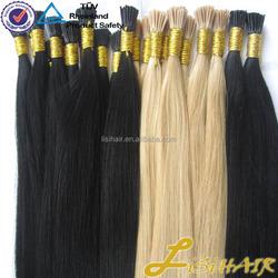 No Shedding No tangle wholesale i-tip hair extension italian glue