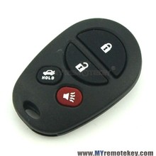Remote fob 3 button with panic GQ43VT20T 315 mhz for Toyota Sienna remote fob