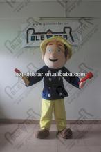quality polyfoam fireman sam mascot costumes NO.4406