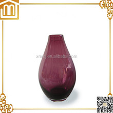 Custom handmade blown art cheap tall purple glass vases for flower arrangements